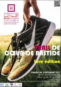 Affiche trail de coeur de bastide 2017