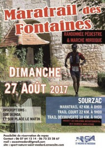 Affiche trail des fontaines ok-time 2017